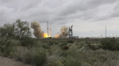 The rocket was launched from the Russia-leased Baikonur launchpad in Kazakhstan [Reuters]