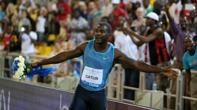 Gatlin had remained unbeaten in 2014 [AP]