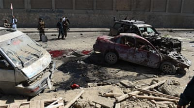 Suicide car bomb targets convoy in Afghan capital