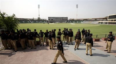 Over 4,000 police officials are on duty for the cricket series [Reuters]