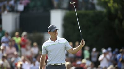 McIlroy has a four-shot lead after the third round [AP]