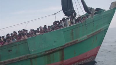 Stranded Rohingya migrants say: 'We're dying on board'