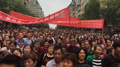 How a violent protest unfolded in China