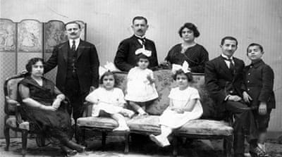 Parisiana owner Kapriel Ayrandjian, centre, photographed with his wife Serpouhie, and their children, including the author's grandmother, the girl on the right
