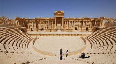 The ancient Palmyra theater in the historical city of Palmyra [REUTERS]