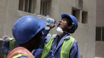 "Qatar unveiled proposed labour reforms a year ago including the replacement of a sponsorship law, known as ""kafala"" [AP]"