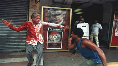 Guillermo Ford, Panama's vice-president elect, is beaten in the street [Ron Haviv]