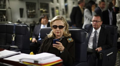 "Hillary Clinton insisted that she had released all the emails that had any ""government relationship"" [AP]"
