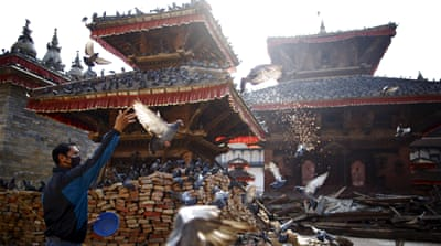 Many ancient temples in Kathmandu collapsed or were heavily damaged during the earthquake [Reuters]