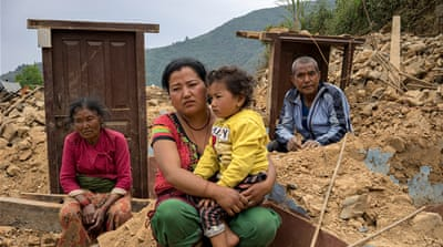 Struggling amid the ruins a month after Nepal quake