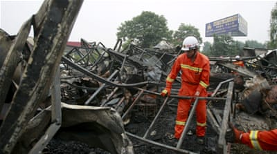 The blaze occurred at a time when most residents were likely asleep and therefore had little chance of escape [Reuters]