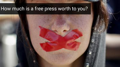 Press freedom under fire