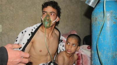 Syria using chlorine gas to attack town, activists say