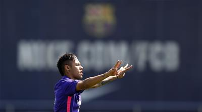 Barca initially disclosed Neymar's transfer fee as 57.1m euros but later turned out to be closer to 100m euros [AP]