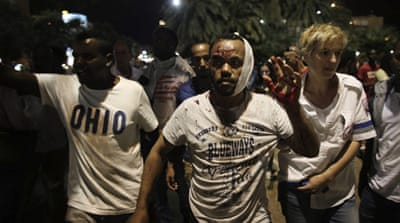 A wounded Israeli of Ethiopian origin during a protest against racism in Tel Aviv [EPA]