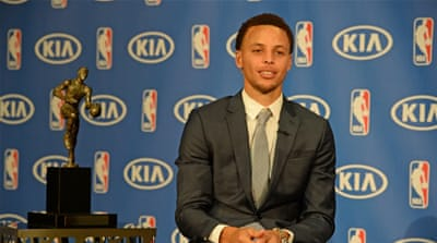 Curry average 23.8 points and 7.7 assists this season [Getty Images]