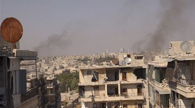 Aleppo's al-Sakhour district in Aleppo has been heavily bombarded by government forces for a long time [Reuters]