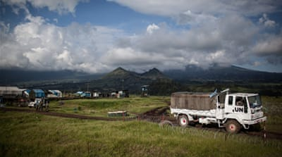 The MONUSCO base for peacekeepers in the North Kivu province of DR Congo [AFP]