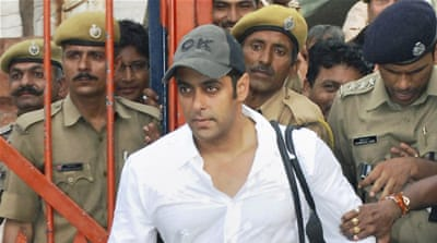 Salman Khan has repeatedly denied that he was behind the wheel [AP]