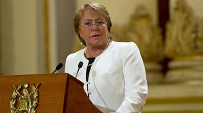 Chile's President Bachelet asks ministers to resign