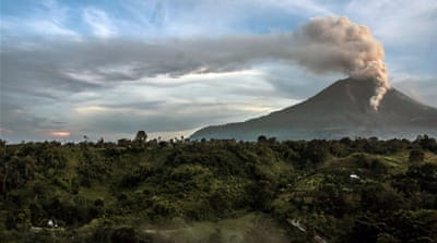 Authorities are closely monitoring Mount Sinabung after placing the area on the highest alert level last week [AFP]