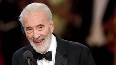 Lee played the titled-role in a 1958 version of Dracula and the wizard Saruman in the Lord of the Rings movies [EPA]