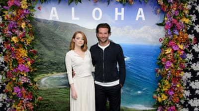 Cameron Crowe with Emma Stone at a special screening of Aloha in California [REUTERS]