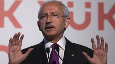 "Kemal Kilicdaroglu said ""pulling the presidency into the constitutional boundaries"" is one of CHP's main principles [EPA]"