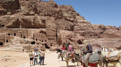 The drop in tourists is most noticeable in what is known as Jordan's 'golden triangle' of tourism: the sites of Wadi Rum, Petra and Aqaba [Areej Abuqudairi/Al Jazeera]