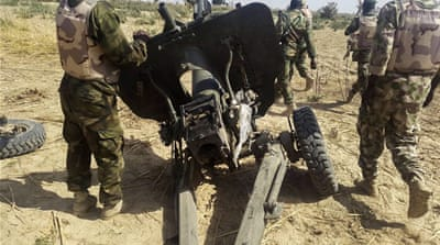 The Nigerian military has previously captured artillery used by Boko Haram in northern Nigeria [EPA]