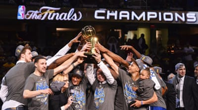 Warriors became the first team to win the title behind a roster without any previous finals experience since 1991 [EPA]