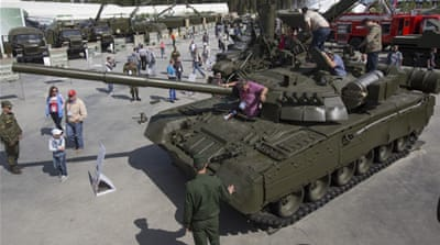 Russia unveils new military park for children