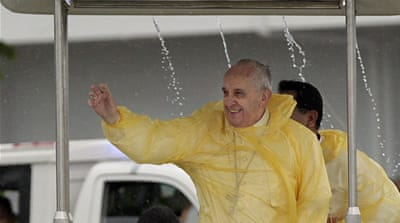 Francis has accused sceptics of cynically ignoring or manipulating the scientific evidence of climate change [AP]
