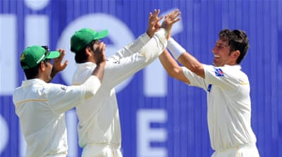Shah (R) finished with nine wickets in the match [Getty Images]