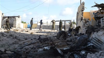 Government sources told Al Jazeera that the army has retaken control of the compound in Mogadishu [Mustaf Abdi Nor Shafana/Al Jazeera]