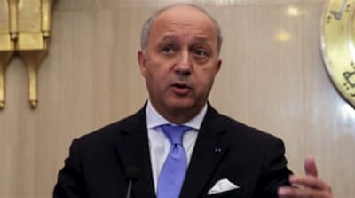 Fabius is due to meet Palestinian President Mahmoud Abbas and Israeli Prime Minister Benjamin Netanyahu on Sunday [Reuters]