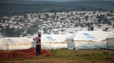 The  Mahama refugee camp in south-east Rwanda which plays host to over 27,000 people who have fled a crisis and unrest. [Zoe Flood/Al Jazeera]