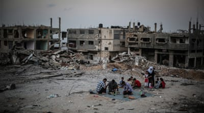 The UNHRC found evidence that war crimes were committed by both Israel and Hamas during the war on Gaza [Getty images]