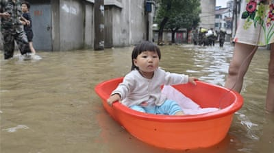 The Meiyu-Baiu weather system has caused havoc across southern and eastern China in the last few weeks. [Getty Images]