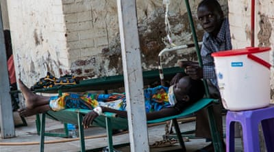 Doctors at the Juba hospital say they have enough staff and supplies to operate the small cholera ward for now [Ashley Hamer/Al Jazeera]