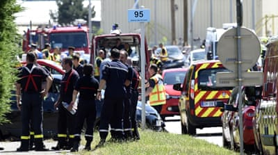 The target of the attack was a chemical factory southeast of Lyon [AFP]
