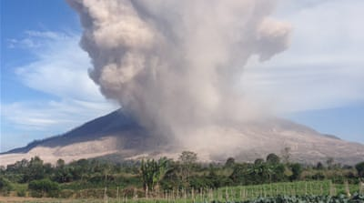 No one knows when the volcano will stop erupting [Stefanie Dekker/Al Jazeera]