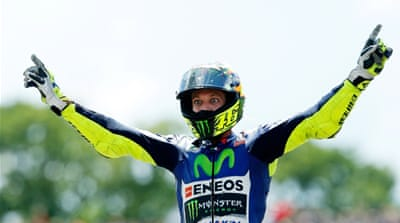Rossi's lead at the top is now 10 points [Getty Images]