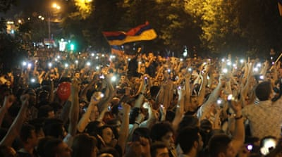 Armenia energy-price rise protesters refuse to disperse