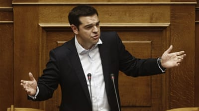 Greek parliament backs PM Tsipras' bailout referendum