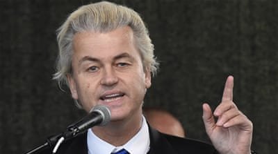 Wilders is reportedly accused of comparing the Quran to Hitler's Mein Kampf [AP]