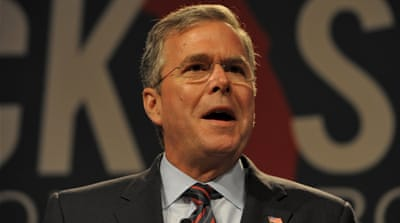 Bush announced in December that he was actively exploring the idea of running for president [Reuters]