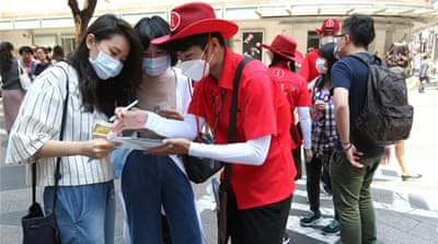 More people in Seoul are wearing face masks as fears over the MERS outbreak grow [AP]