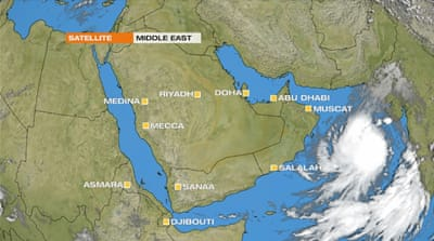 Tropical Cyclone 01A heads towards the Gulf of Oman threatening floods and damaging winds [Al Jazeera]