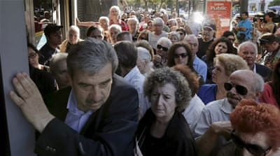 Greece has allowed pensioners without bank cards to withdraw a maximum of 134 dollars from their accounts [Reuters]